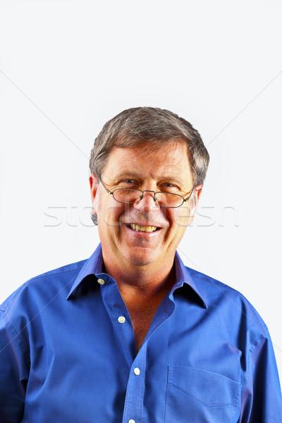 Portrait heureux homme sérieux regarder sourire Photo stock © meinzahn