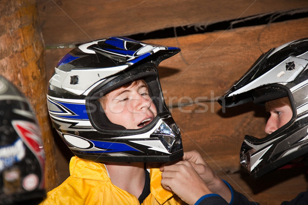 Erkek sürücü yüz kirli spor Stok fotoğraf © meinzahn
