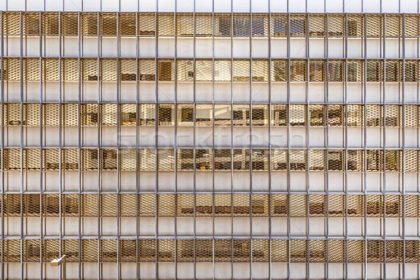 Stok fotoğraf: Ofis · binası · duvar · pencere · kentsel · ayna