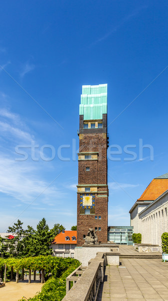 Torre colônia céu casa arte igreja Foto stock © meinzahn