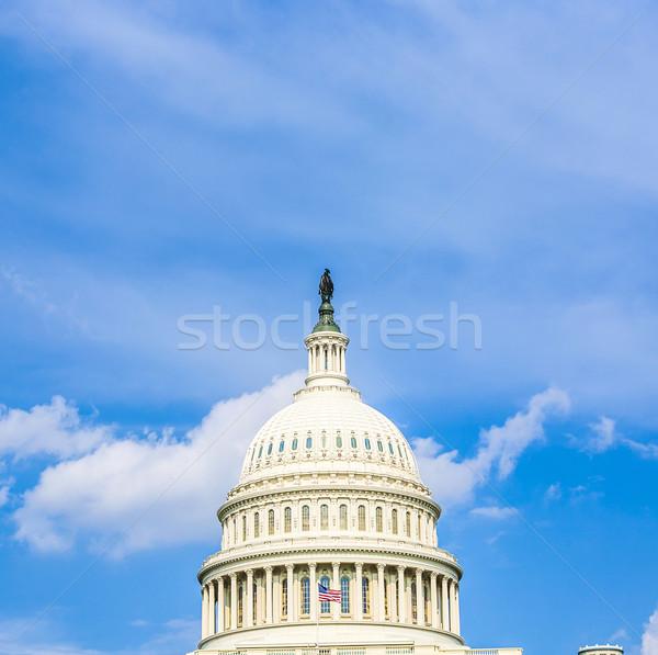 épület Washington Washington DC kék ég szín szín Stock fotó © meinzahn