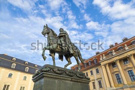 statue of Lady Justice in Frankfurt, Germany Stock photo © meinzahn