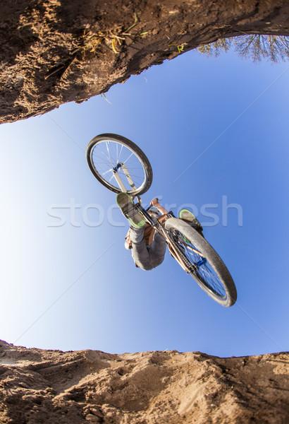 Ragazzo sporco bike Vai divertimento velocità Foto d'archivio © meinzahn