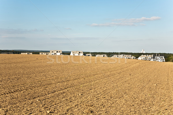new built housing area in beautiful landscape with view over gol Stock photo © meinzahn