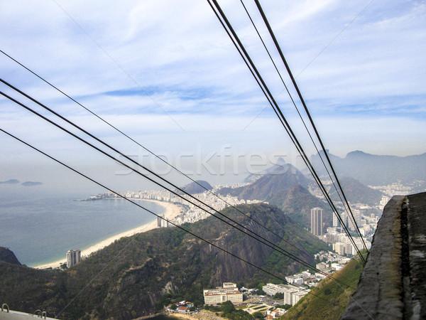 Kilátás Rio kábel autó Rio de Janeiro Brazília Stock fotó © meinzahn