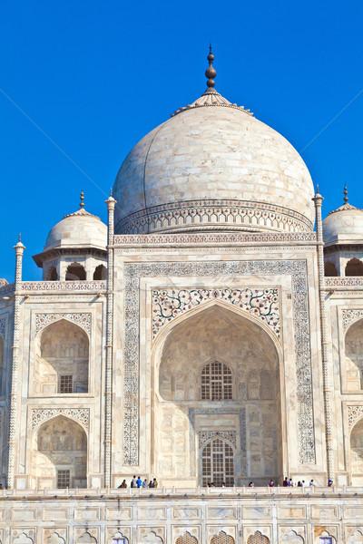 Taj Mahal India architettura bianco marmo Asia Foto d'archivio © meinzahn