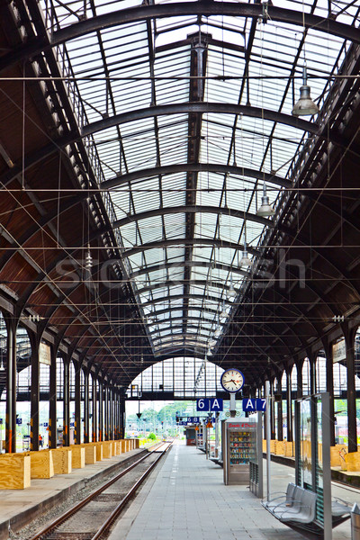 classicistic iron train station from inside  Stock photo © meinzahn