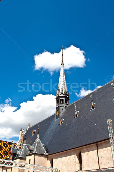 Híres elfekvő Franciaország bor templom épületek Stock fotó © meinzahn