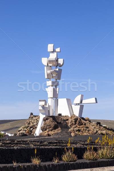 View of Al Campesino Monument ( Lanzarote Island Spain )  Stock photo © meinzahn