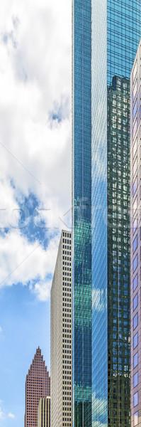 Homlokzat felhőkarcoló belváros Houston autó város Stock fotó © meinzahn