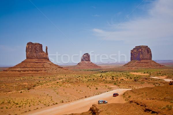 有名な 風光明媚な 谷 ミトン 巨人 砂岩 ストックフォト © meinzahn