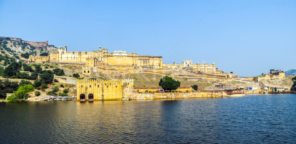 Noto punto di riferimento ambra fort India acqua Foto d'archivio © meinzahn