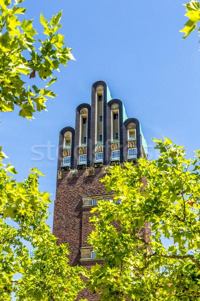 Hochzeitsturm tower at Kuenstler Kolonie artists colony in Darms Stock photo © meinzahn