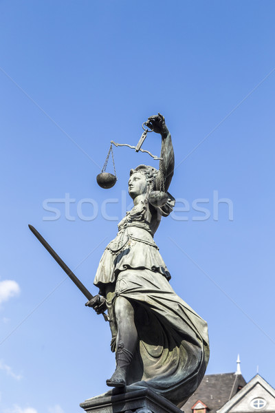 Statue of Lady Justice  in Frankfurt, Germany Stock photo © meinzahn