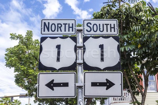 нулевой ключевые Запад шоссе знак Флорида юг Сток-фото © meinzahn