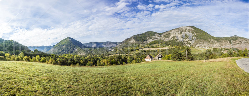 rural landscape in region les haut alpes in France Stock photo © meinzahn