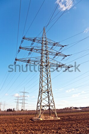 High voltage tower on a background with sky Stock photo © meinzahn