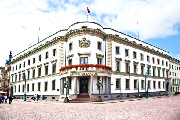 Hessischer Landtag in Wiesbaden Stock photo © meinzahn