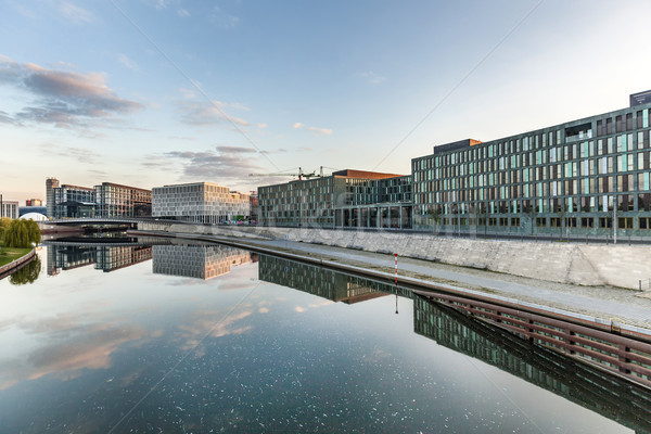 River Spree and office building of the German Parliament in Berl Stock photo © meinzahn