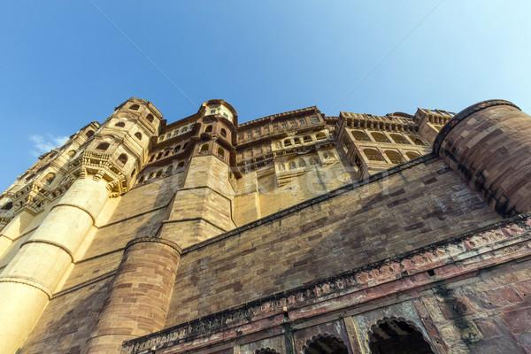 Erőd India híres épület város fal Stock fotó © meinzahn