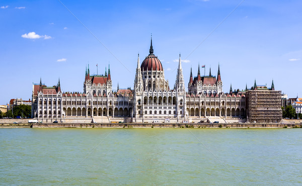 famous Hungarian parliament in Budapest Stock photo © meinzahn