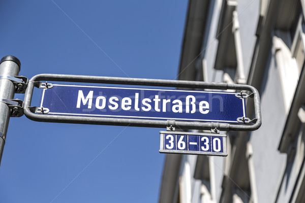 Street name Moselstrasse at the enamel sign Stock photo © meinzahn