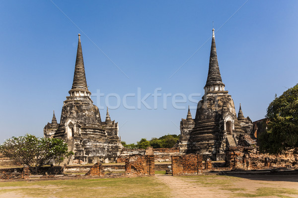 famous temple area Wat Phra Si Sanphet in the Royal Palace in Aj Stock photo © meinzahn