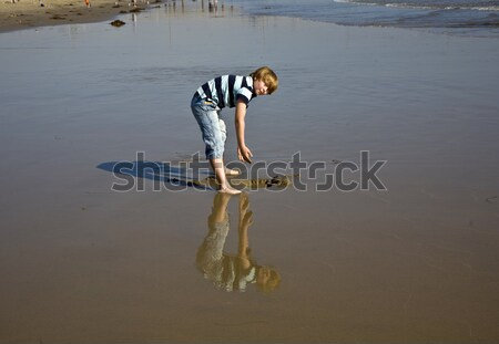 Stock photo: boy at the beach in Venice