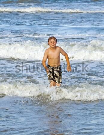 Erkek su okyanus sörf kristal yüz Stok fotoğraf © meinzahn