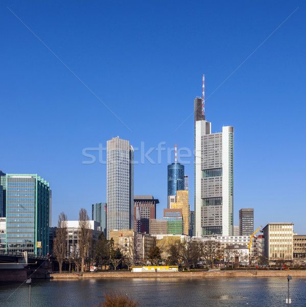 View of the skyline of Frankfurt, Germany  Stock photo © meinzahn
