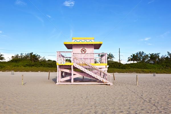 Oglądać chata plaży niebo wody Zdjęcia stock © meinzahn