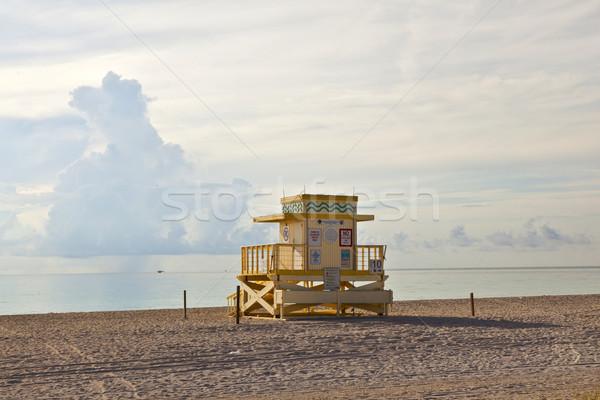 Houten art deco strand mooie water zon Stockfoto © meinzahn