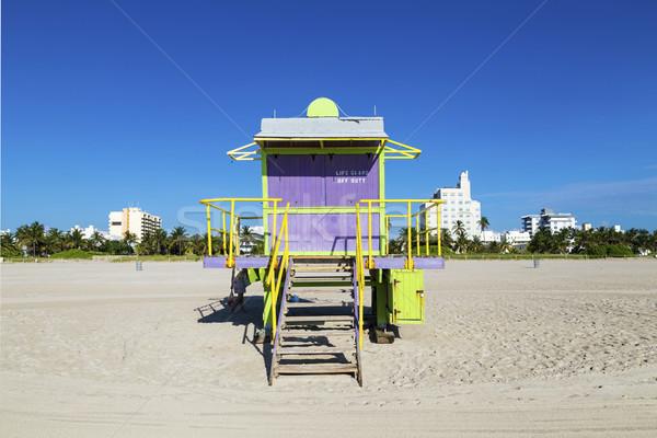 Badmeester cabine lege strand Miami Florida Stockfoto © meinzahn