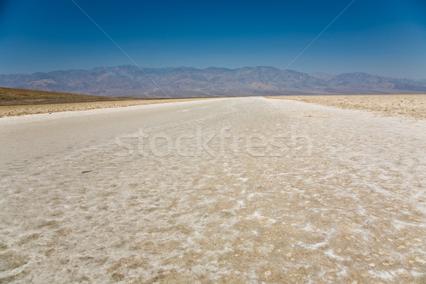 Badwater, deepest point in the USA, Saltsee mixed with minerals  Stock photo © meinzahn