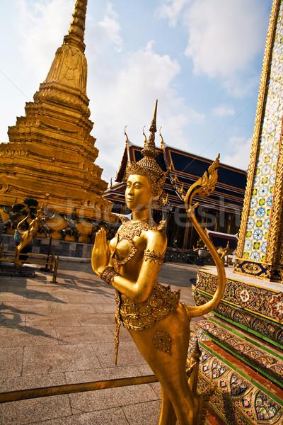 Beroemd tempel gedekt goud mythologie cijfer Stockfoto © meinzahn