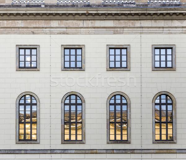 historic  facade of Humboldt university in Berlin from 1810  Stock photo © meinzahn