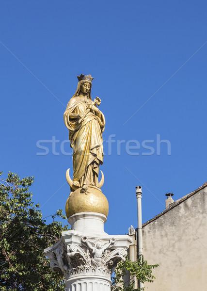 Szűz kék ég Marseille vallás Stock fotó © meinzahn