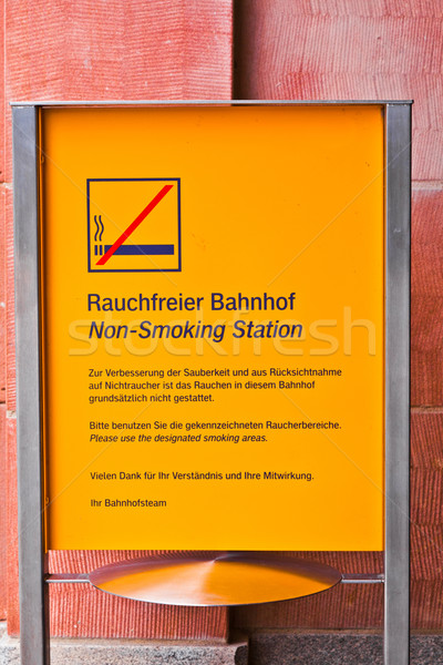 non smoking sign in public area Stock photo © meinzahn