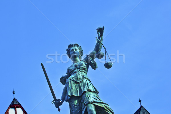 Photo stock: Statue · dame · justice · Francfort · affaires
