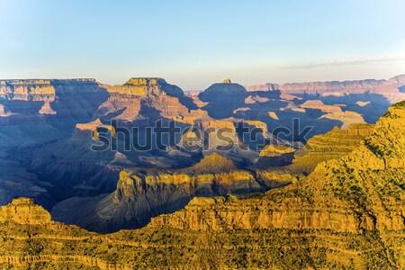 Altın kayalar Grand Canyon gün batımı renkli nokta Stok fotoğraf © meinzahn