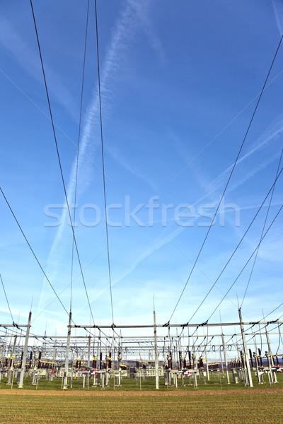 électrique centrale électrique ciel belle paysage construction Photo stock © meinzahn