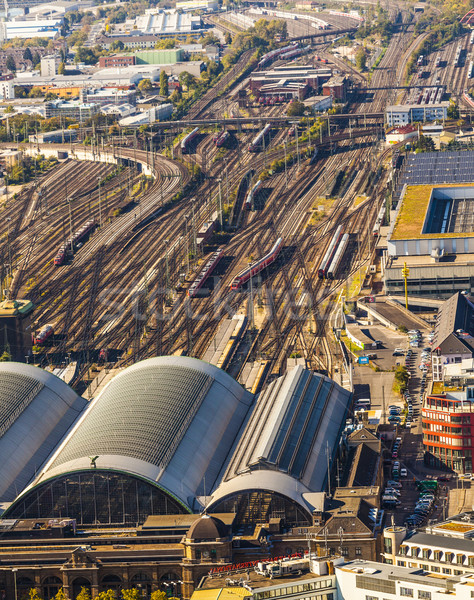 aerial of the Hauptbahnhof in afternoon Stock photo © meinzahn