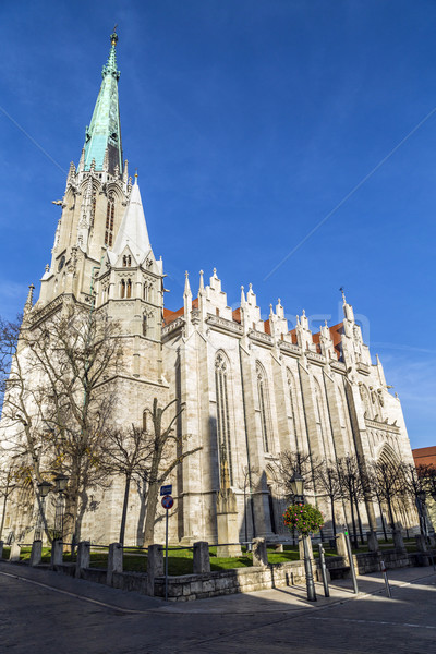 Germany, Thuringia, Muhlhausen, View of Church of Our Lady Stock photo © meinzahn