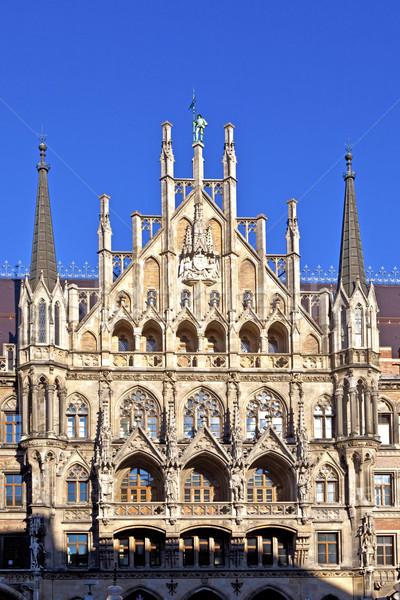 Fachada Munique cidade ouvir casa edifício Foto stock © meinzahn