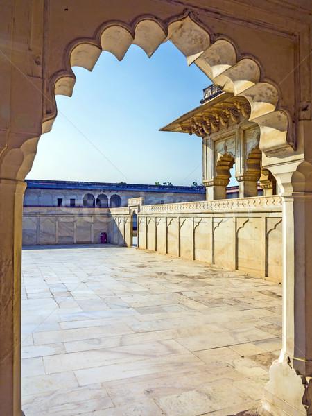 красный форт ворот Индия ЮНЕСКО Мир Сток-фото © meinzahn