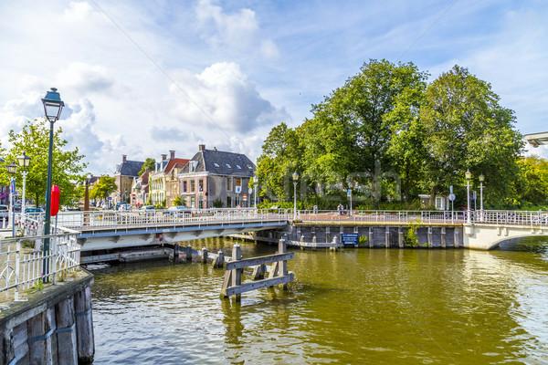 bridge in Harlingen, Netherlands Stock photo © meinzahn