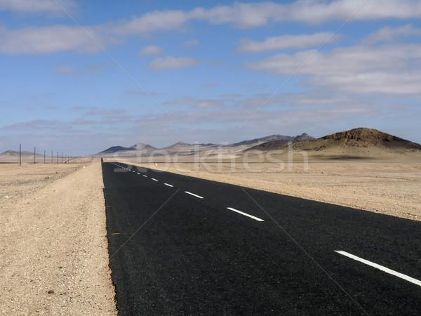 通り 砂漠 ナミビア 空 ストックフォト © meinzahn