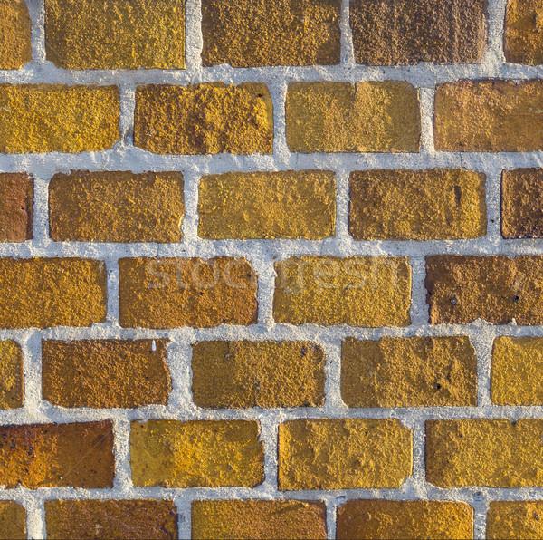 yellow brick background - Brickwork texture for background use Stock photo © meinzahn