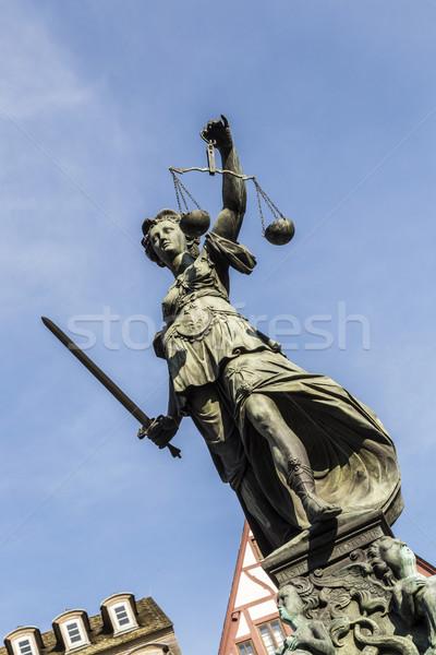 lady justice  under blue sky Stock photo © meinzahn