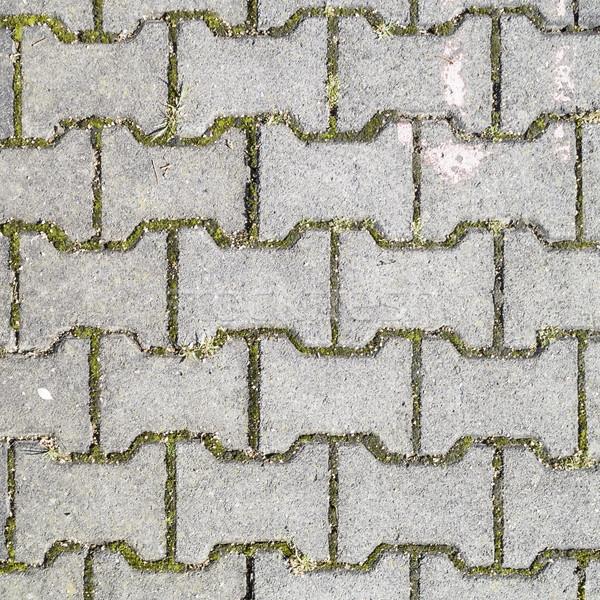 Concreto estrada pedra tijolo cinza grama Foto stock © meinzahn